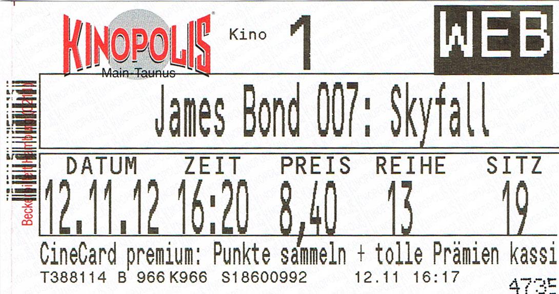 007 – Skyfall (Kino)