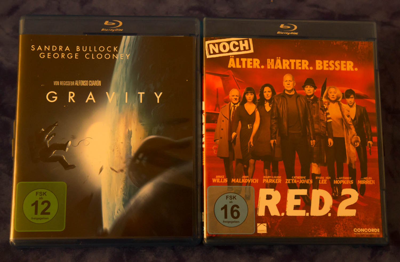 Blu-Ray, Februar 2014, Gravity, R.E.D.2