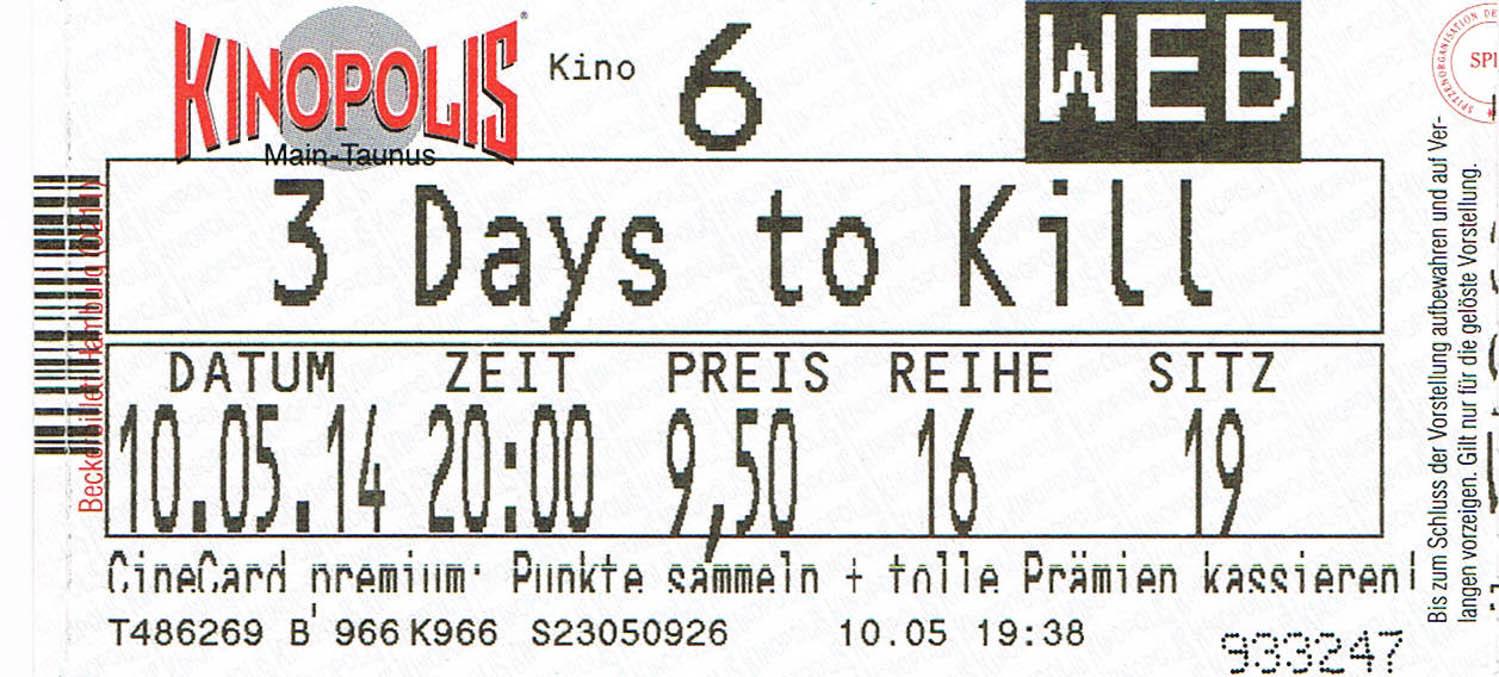 3 Days to Kill (Kino)