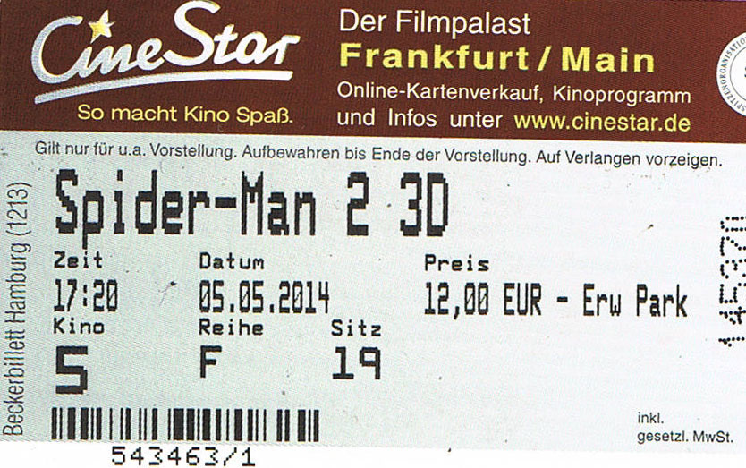 The Amazing Spider-Man 2: Rise of Electro (Kino)